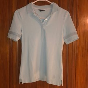 Brooks Brothers baby blue polo shirt Small